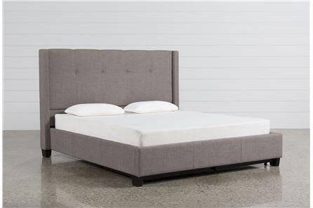 Damon II Eastern King Upholstered Platform Bed W/Storage