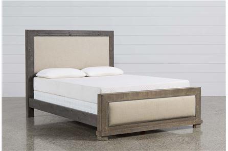 Sinclair Grey California King Panel Bed - Main