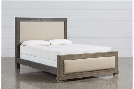 Sinclair Grey Eastern King Panel Bed - Main