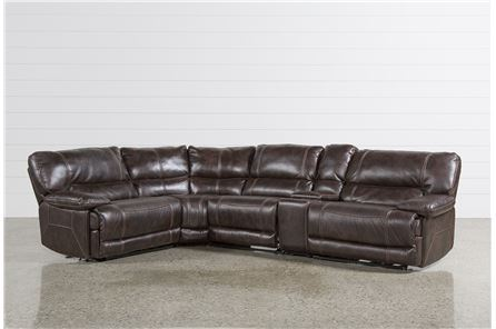 Marx Nutmeg 5 Piece Power Reclining Sectional W/1 Armless Chair - Main