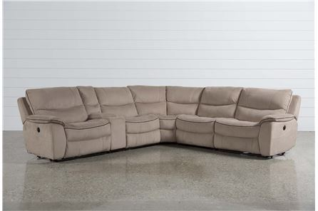 Lockwood 6 Piece Pwr Reclining Sectional W/Arml Chr/Arml Recliner - Main