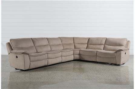 Lockwood 6 Piece Power Reclining Sectional W/2 Armless Chairs - Main