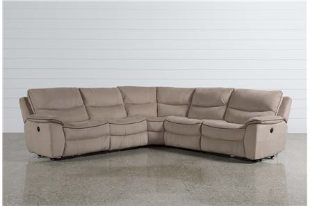 Lockwood 5 Piece Pwr Reclining Sectional W/Arml Chr/Arml Recliner - Main