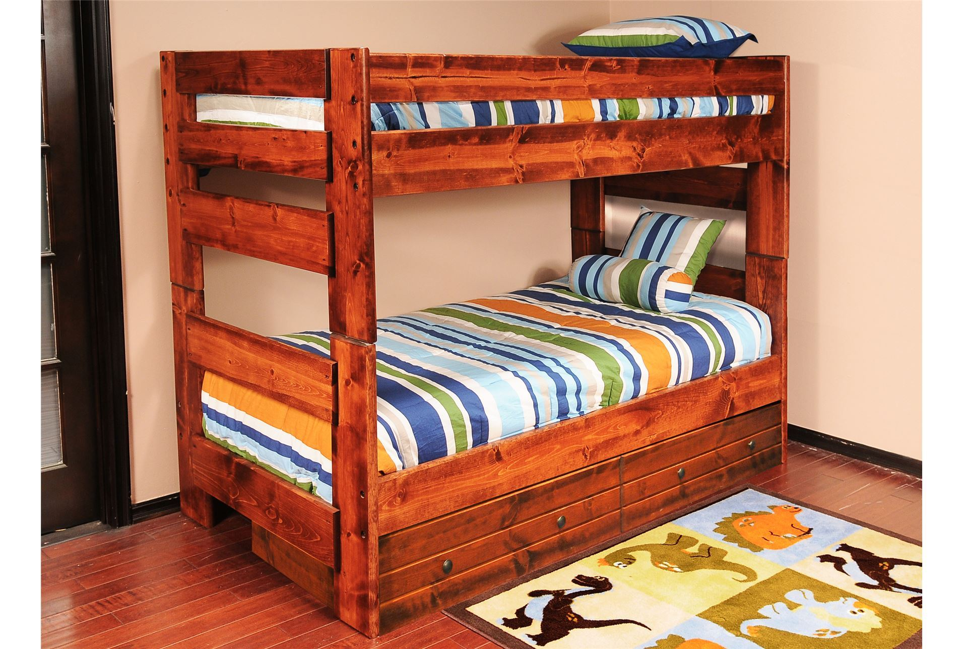 Sedona full full bunk bed living spaces for Living spaces full bed