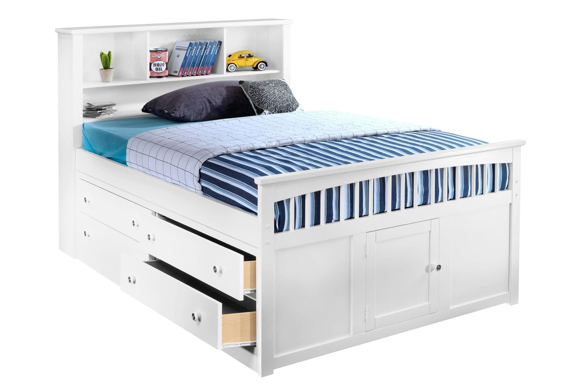 Bayfront full captains bed w single 4 drawer unit living Captains bed full