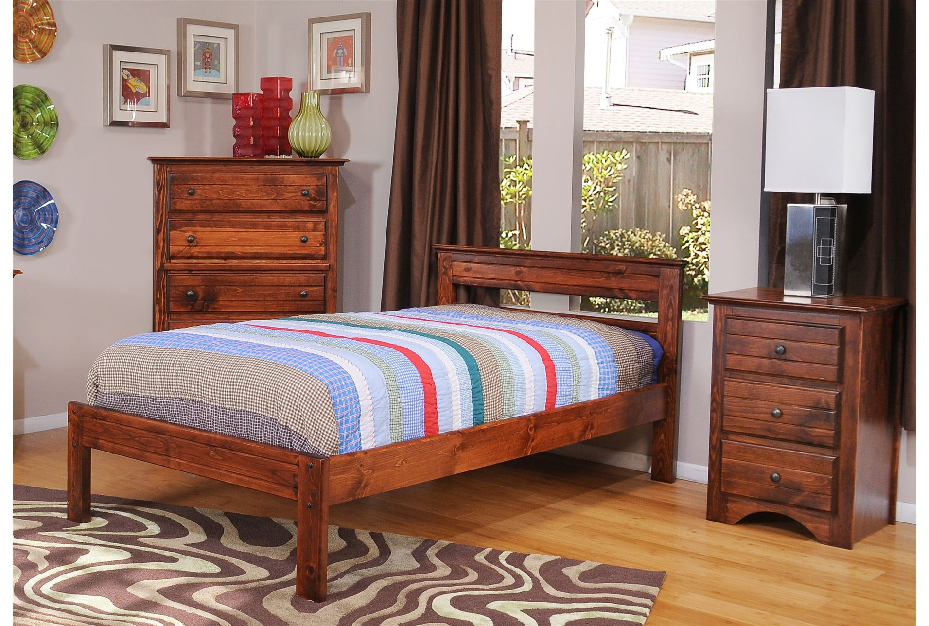 Sedona full platform bed living spaces for Living spaces full bed