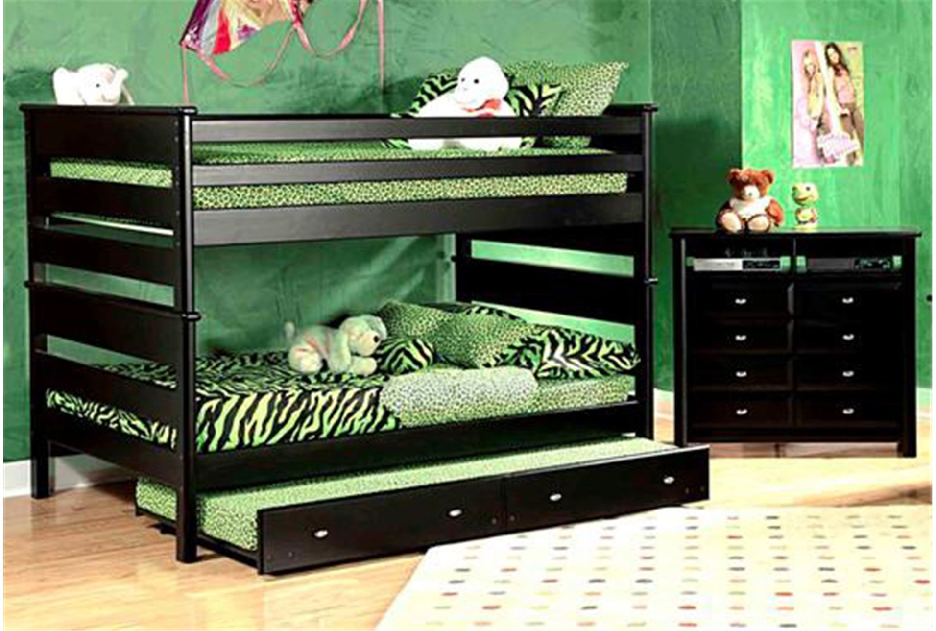 Laguna black twin twin bunk bed living spaces for Living spaces full bed
