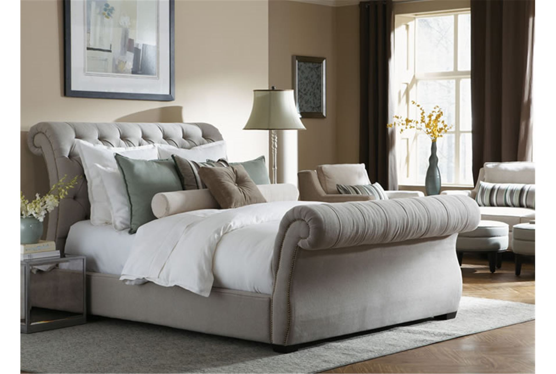 Shop furniture online furniture store same day delivery Upholstered sleigh bed