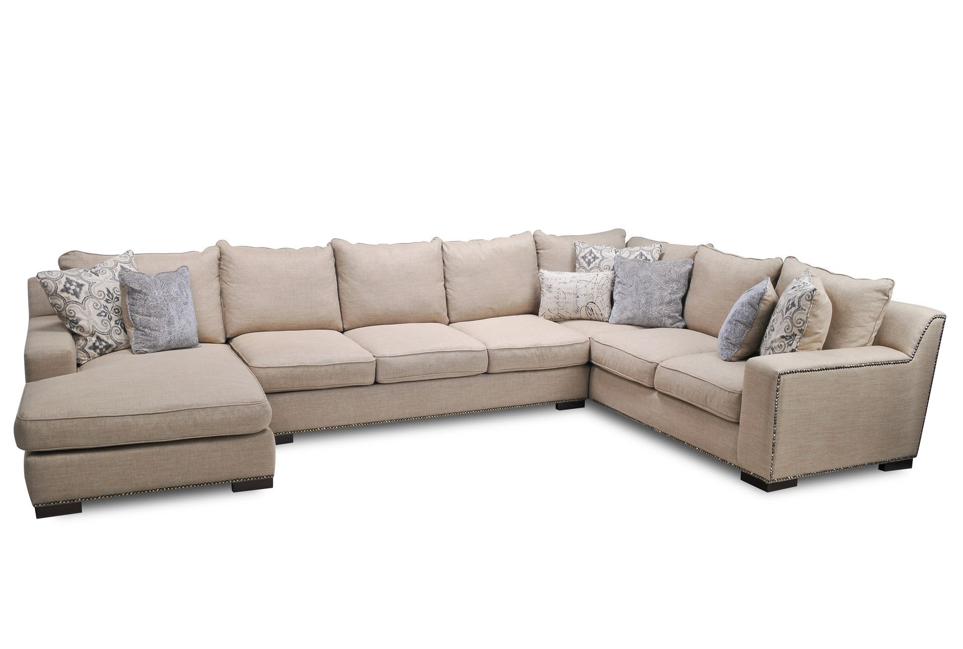 Sultan 3 piece sectional living spaces for Large 3 piece sectional sofa