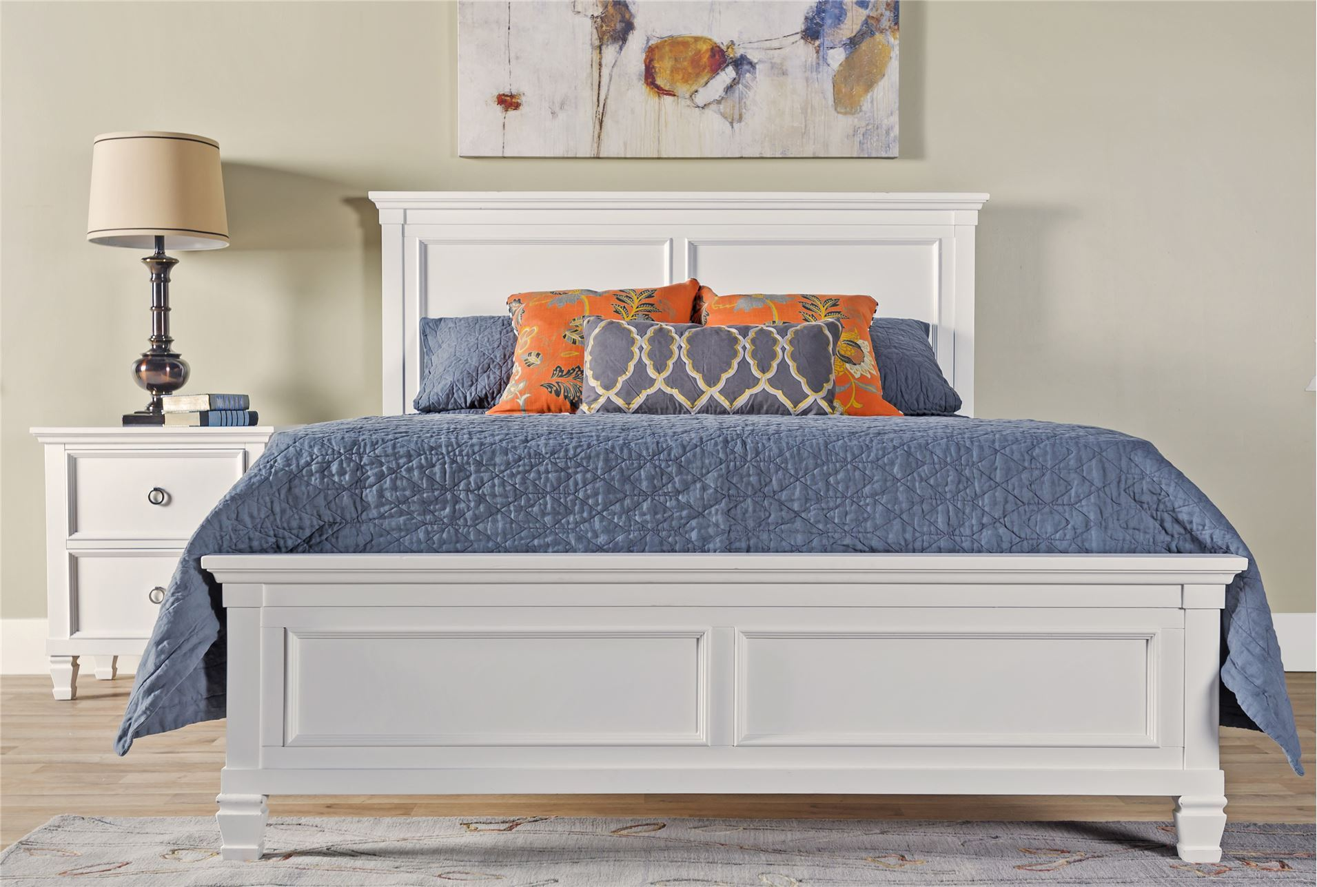 albany full panel bed living spaces
