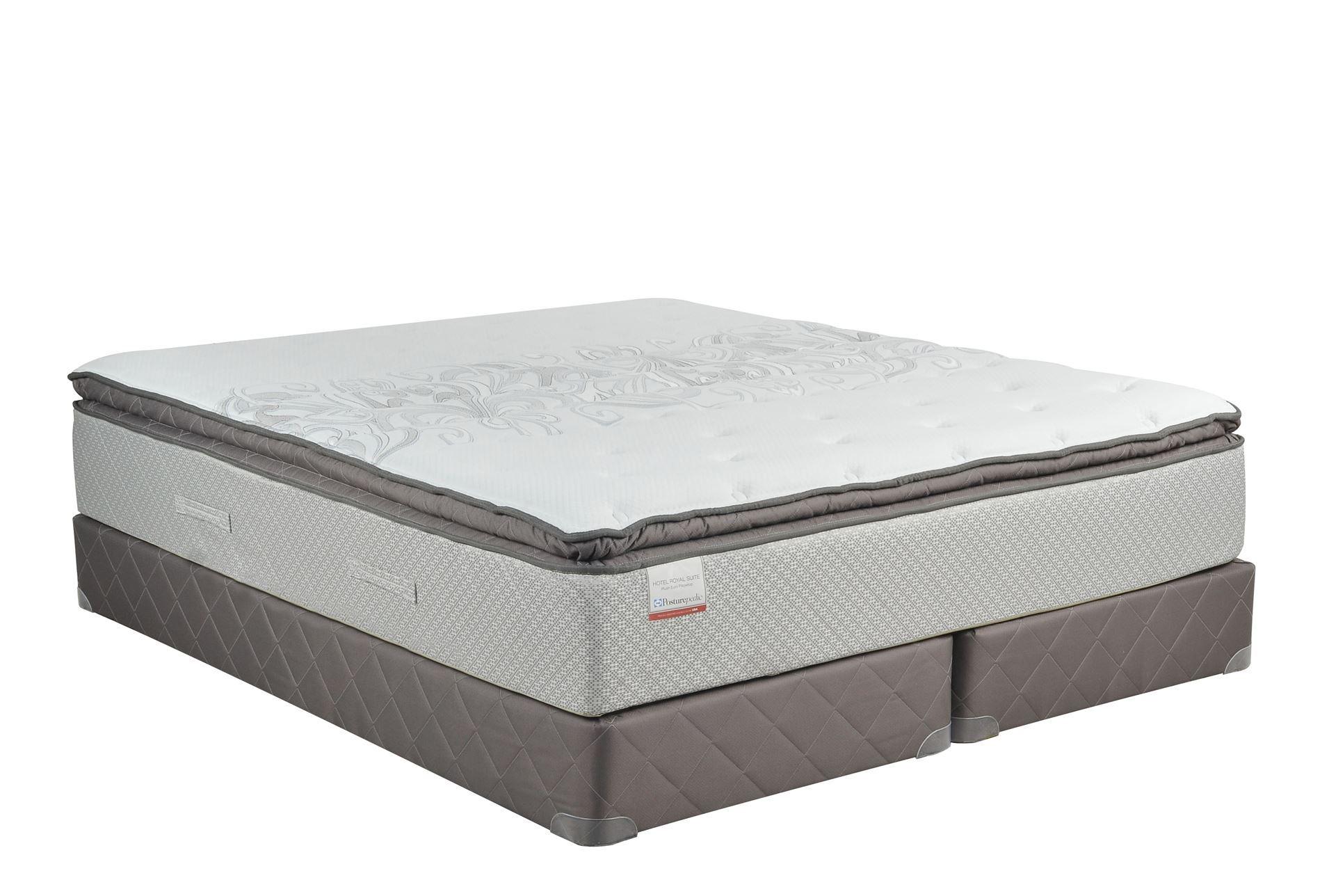 Royal pedic full size pillowtop mattress w box spring California king box spring