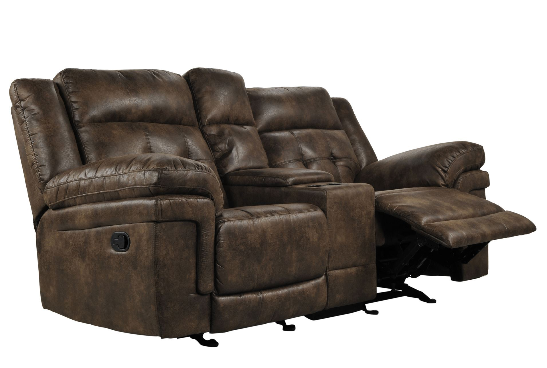 Carver Reclining Glider Loveseat W Console Living Spaces