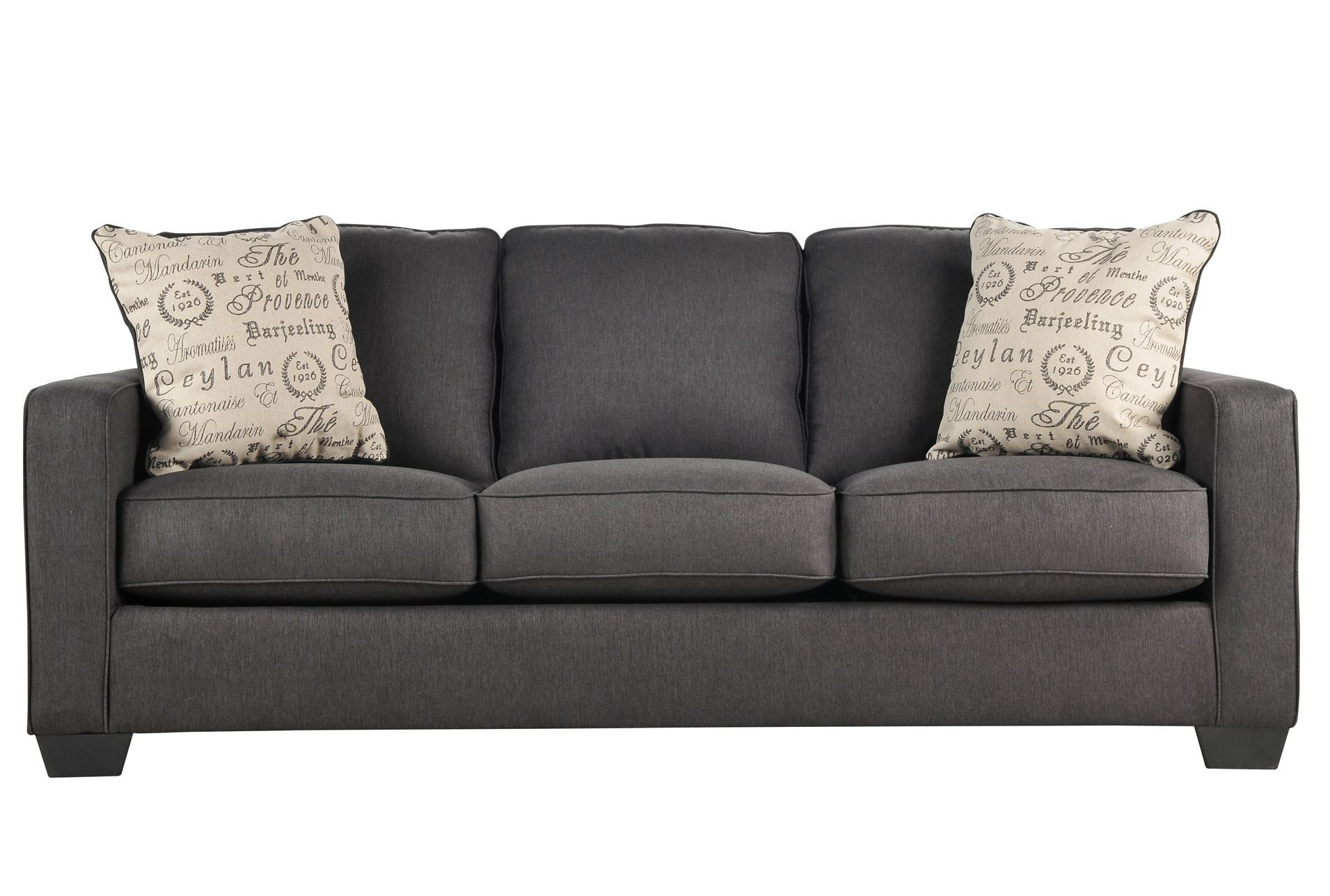 Alenya charcoal sofa living spaces for Charcoal sofa living room