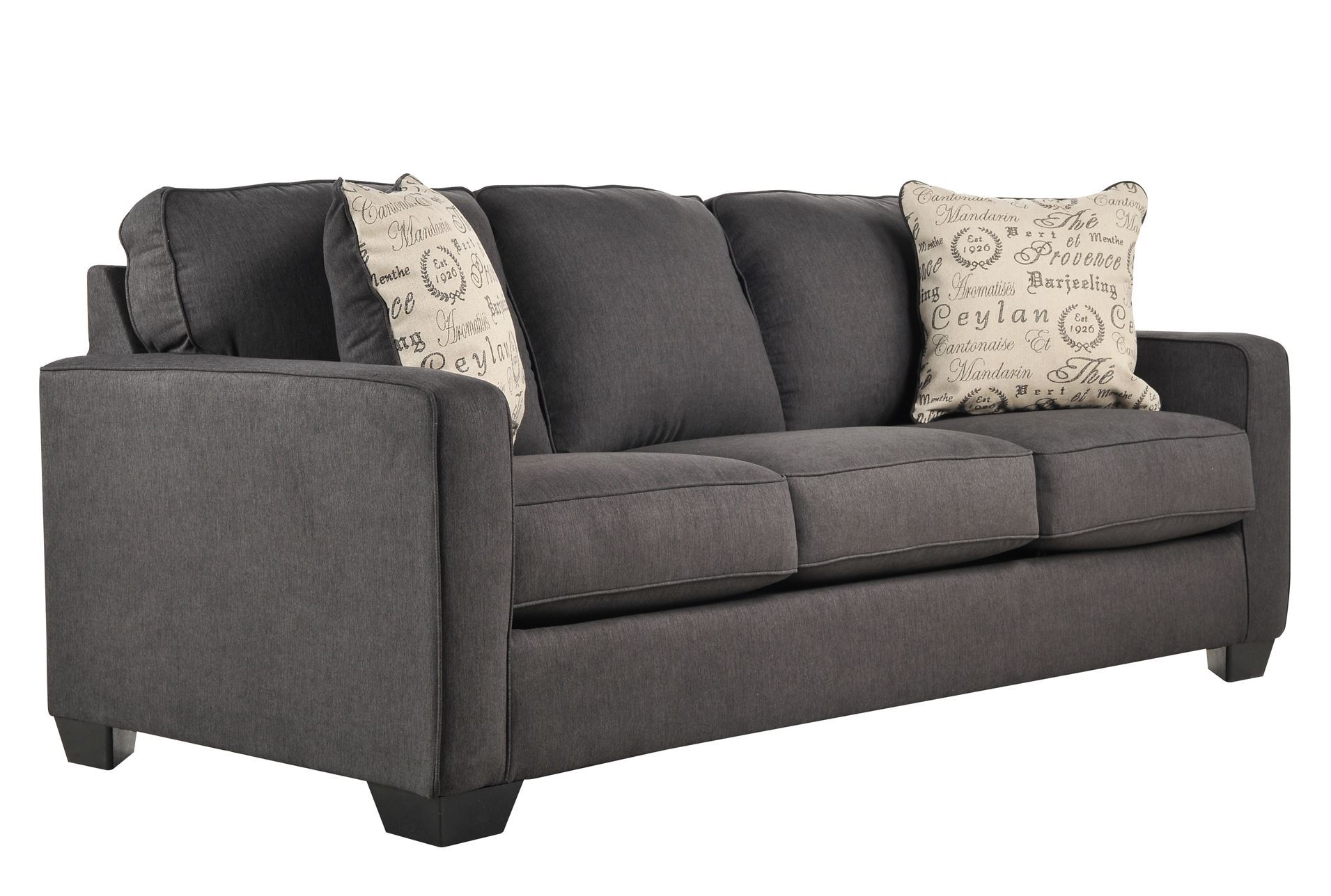 Alenya charcoal sofa living spaces for Living spaces sofas