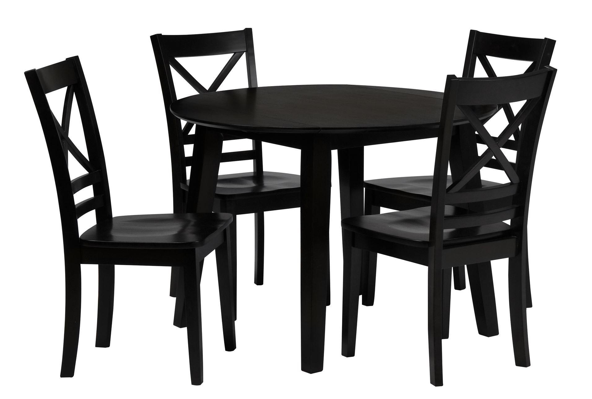 roxy espresso 5 piece round dining set living spaces