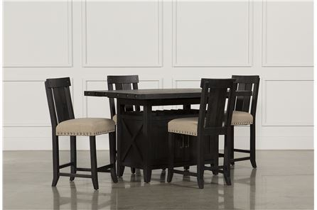 Display product reviews for KIT-JAXON 5 PIECE COUNTER SET W/WOOD STOOLS