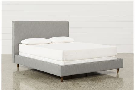 Display product reviews for KIT-DEAN CHARCOAL FULL UPHOLSTERED PANEL BED