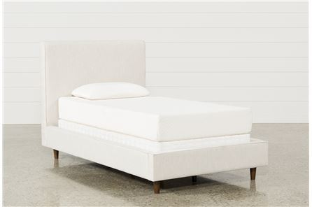 Display product reviews for KIT-DEAN SAND TWIN UPHOLSTERED PANEL BED