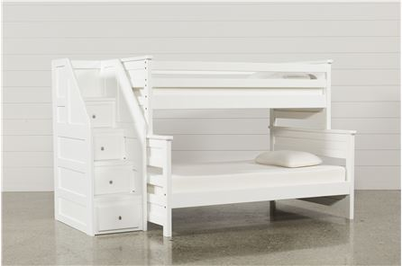 Display product reviews for KIT-SUMMIT WHITE TWIN/FULL BUNK BED W/STAIRWAY CHEST