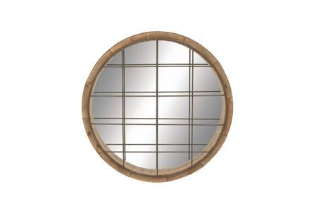 Display product reviews for 48 INCH WOOD METAL GRID WALL MIRROR