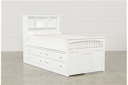 Display product reviews for KIT-BAYFRONT TWIN CAPTAINS BED W/SINGLE 4-DRAWER UNIT