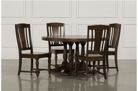 Display product reviews for KIT-ARLO WOOD 5 PIECE ROUND DINING SET