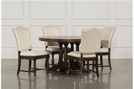 Display product reviews for KIT-ARLO 5 PIECE ROUND UPHOLSTERED DINING SET
