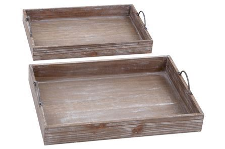 Display product reviews for 2 PIECE SET WOOD TRAY