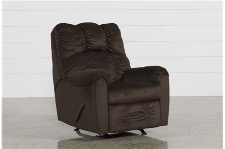 Display product reviews for RAULO CHOCOLATE ROCKER RECLINER