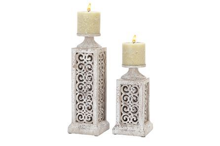 Display product reviews for 2 PIECE SET CERAMIC CANDLEHOLDERS