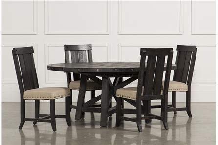 Display product reviews for KIT-JAXON 5 PIECE EXTENSION ROUND DINING SET W/WOOD CHAIRS