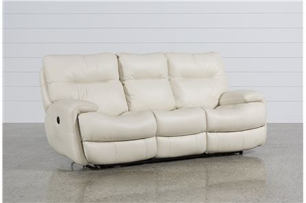 Display product reviews for OLIVER IVORY POWER RECLINING SOFA