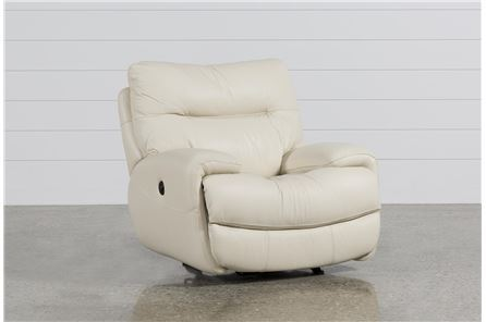 Display product reviews for OLIVER IVORY POWER GLIDER RECLINER