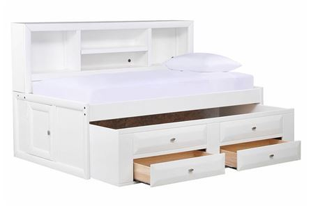 Display product reviews for KIT-VARSITY WHITE FULL ROOMSAVER BED W/2-DRW CAPTAINS TRUNDLE