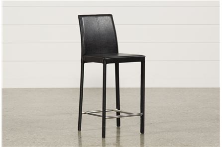 Display product reviews for RENATA 24 INCH BLACK BARSTOOL