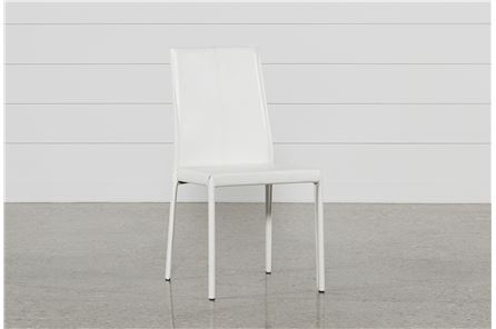 Display product reviews for RENATA WHITE SIDE CHAIR