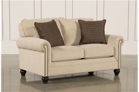 Display product reviews for MILARI LINEN LOVESEAT