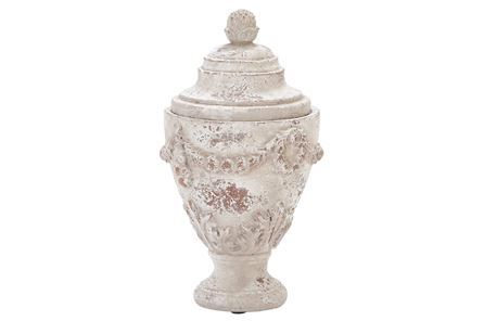 12 INCH CERAMIC URN WITH LID