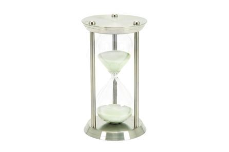 Display product reviews for 12 INCH METAL & GLASS HOURGLASS