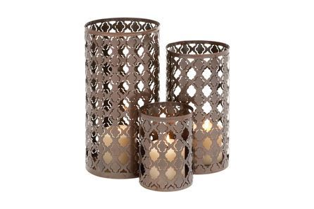 Display product reviews for 3 PIECE SET METAL CANDLEHOLDERS