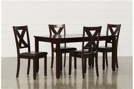 Display product reviews for DAKOTA 5 PIECE DINING TABLE W/SIDE CHAIRS