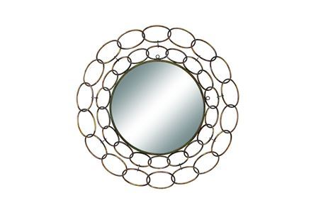 Display product reviews for MIRROR-SILVER LINKS 35 INCH ROUND
