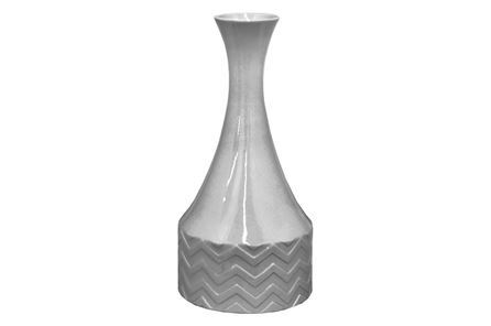 Display product reviews for GREY CHEVRON VASE TALL