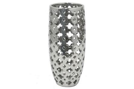 Display product reviews for 11 INCH SILVER PIERCED VASE