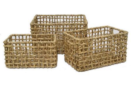 Display product reviews for 3 PIECE SET WATER HYACINTH BASKETS