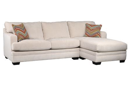 Display product reviews for KIT-CARSON CREAM 2 PIECE SECTIONAL W/RAF CHAISE