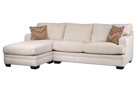 Display product reviews for KIT-CARSON CREAM 2 PIECE SECTIONAL W/LAF CHAISE