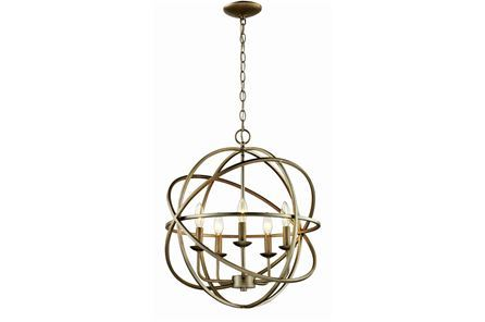 Display product reviews for CHANDELIER-ROSILYN ANTIQUE SILVER 5-LIGHT