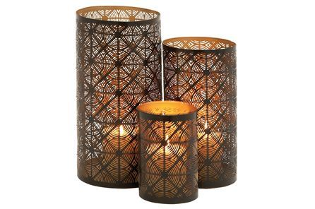 Display product reviews for 3 PIECE SET SHADOW CANDLEHOLDERS