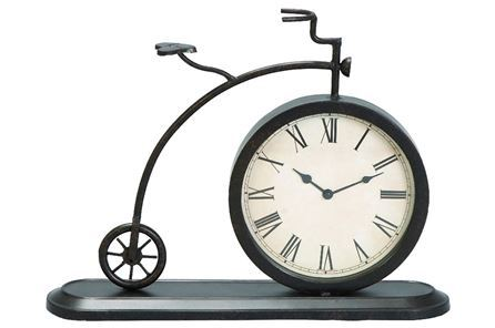 14 INCH METAL BICYCLE CLOCK